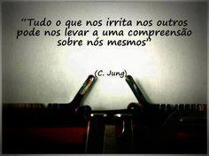 Tudo o que nos irrita nos outros pode nos levar a uma compreensão sobre nós mesmos... #jung #compreensao