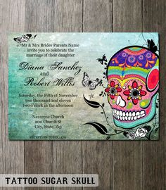 skull wedding invitations 1000 images about sugar skulls on day of the 7539