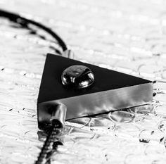 Total Eclipse Necklace By Cindy Leper exclusively for Velvit. #Velvit #darkaesthetics #darkarts #allblack #allblackeverything #darkfashion #darkstyle #darklookbook #independentdesigners #blackdesigns #necklace #jewelry #blackjewelry #cindyleper