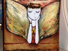 originally painted                          Fairy  Dreamer  Acrylic -mixed 20x20 cm ... on Etsy, $25.00
