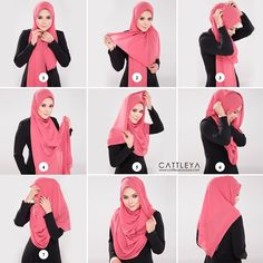 This is a beautiful and easy hijab wrap, simple unlike it looks like, you ca, create this look in no time using your maxi scarf, one safety pin and two straight pins. Get your hand ready and follow the steps…