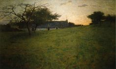 """At Evening,"" Arthur Wesley Dow, 1888, oil on canvas, 32.5 x 53.5"", either Ipswich Public Schools or Allentown Art Museum of Lehigh Valley."