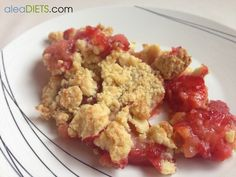 La dieta ALEA -  blog de nutrición y dietética, trucos para adelgazar, recetas para adelgazar: Crumble de fresas light