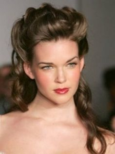 Curly Half Updo Hairstyles - Curly half up/down hairstyles are some of the most interesting and practical hairstyles for medium to long hair length. Helping to create a polished look but carrying the sexiness of loose hairstyles simultaneously, half updos are a safe and stylish chioce for all kinds of occasions. Discover a few stylish half updo curly hairstyles.