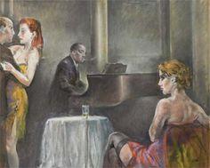 Alberto Sughi  Notturno al piano bar