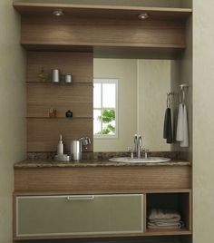 31 Ideas for bathroom closet shelves diy toilets Bathroom Mirror With Shelf, Bathroom Windows, Bathroom Closet, Bathroom Sink Vanity, Bathroom Shelves, Small Bathroom, Washroom, Washbasin Design, Bathroom Window Treatments