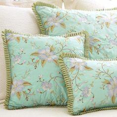 Pine Cone Hill Marie Aqua Silk Pillow - Final Sale @LaylaGrayce