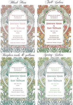 Gatsby Garden Wedding Invitations  Art Nouveau Art by dearemma, $2.99