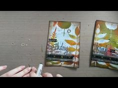 Made by Sannie: Autumn cards with video tutorial