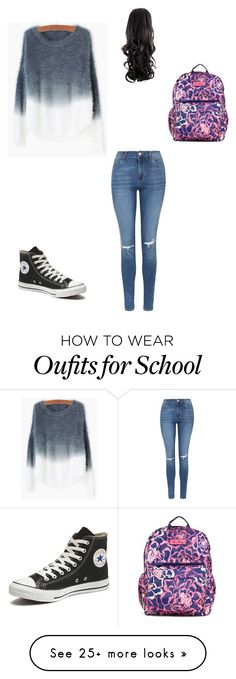 """#G.G's school outfit"" by jenniferbwedwell on Polyvore featuring Vera Bradley, Topshop, Converse, women's clothing, women, female, woman, misses and juniors"
