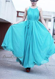 02300ac61d60 Maxi dress/ light blue Holiday Beach Dress Summer Sundress Plus Size Maxi  Dress bridesmaid dress Formal Evening Prom Gown Homecoming dress