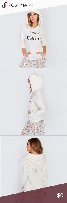 Unicorn Are Real Hoodie..Coming Soon 🦄🦄 Show people unicorns do exist in this cozy  Unicorn Hoodie. Made soft sherpa fleece that looks and feel incredible. Complete with oversized fit, banded hems, and front pouch pocket.   100% Brand new and high quality. Size:S, M, L, XL Pattern Type:Letters, Printed Material:47% Cotton, 50% Polyester, 3% Rayon Style:Casual Collar:Hooded Clothing Length:Regular Sleeve Length:Long Sleeve Package Included: 1 Sweatshirt Tops Sweatshirts & Hoodies