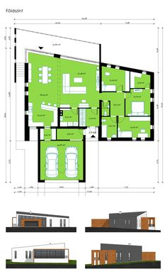 House Layout Plans, Modern House Plans, Small House Plans, House Layouts, Modern House Design, House Floor Plans, Building Layout, Minimal Home, Solar House