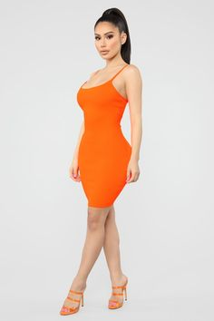 5d569b971ab Coming Soon Mini Dress - Neon Orange