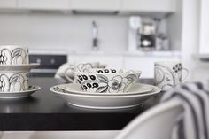 Black And White Design, Finland, February, Table Settings, Architecture, Tableware, Kitchen, Blog, Home