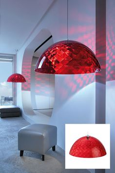Koziol Lighting Large Ruby Pendant Now available from IOS Lighting Showroom Northampton #ioslighting