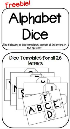 Alphabet Dice. Visit my blog and facebook page for freebies, tips and new product updates: rollerenglish.blogspot.com https://www.facebook.com/rollerenglish