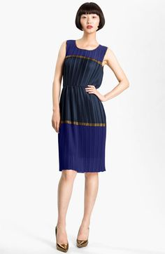I so love the look of this dress... but I bought it and it fit so poorly. BCBG off the rack can be such a letdown. BCBGMAXAZRIA Colorblock Pleated Chiffon Dress | Nordstrom