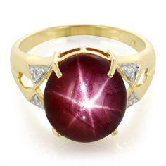 Bague en or et Rubis étoilé - une pièce fabuleuse pour un effet garanti! Avec certificat d'authenticité, en exclusivité chez Juwelo.