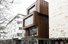 Benetton Concept Store @ Istanbul by Lissoni Associati Mercer Street, Corten Steel, Reinforced Concrete, Facade Architecture, Benetton, Lighting Design, Istanbul, Cool Designs, Concept