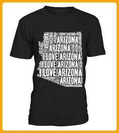 I Love Arizona  United States of America Word Cloud Graphic - 14 juli shirts (*Partner-Link)