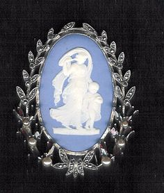 Image detail for -Wedgewood Mother and Child Cameo Brooch