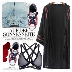 """""""Rock Concert Style"""" by vanjazivadinovic ❤ liked on Polyvore featuring T By Alexander Wang, Converse, polyvoreeditorial and zaful"""