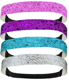 4 Pack: 3/4 Inch Wide Glitter Headband Elastic Back for only $6.99 You save: $6.00 (46%) + Free Shipping