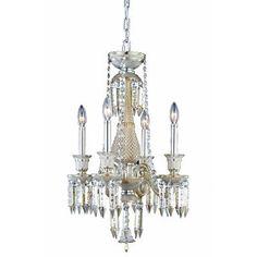 Elegant Lighting Majestic 4 Light Crystal Chandelier Finish: