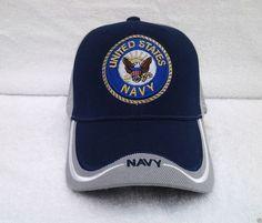 4512de6d745 UNITED STATES NAVY (BLUE   GRAY) Military Veteran Hat 589 KN MT  BaseballCap
