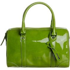 L.Credi Handbag ($61) ❤ liked on Polyvore featuring bags, handbags, green, purses and green bags