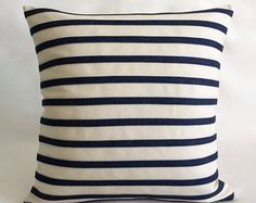 Indoor Outdoor Modern Navy Blue Nautical by RenaissanceCushions