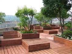 Rooftop garden, Place du Fort, Montreal Canada