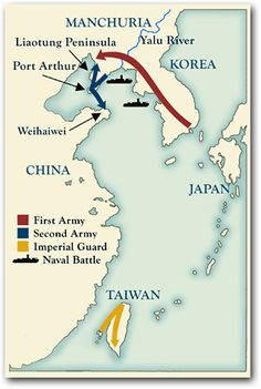 Sino - Japanese War from MIT Visualising cultures Japanese lines of attack in the Sino-Japanese War (july 1894 - April 1895)