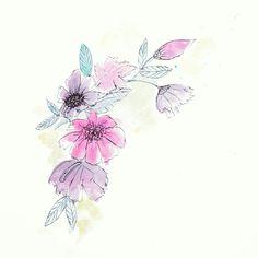 Pastel Flowers, Watercolor, Tattoos, Watercolor Painting, Tatuajes, Blush Flowers, Tattoo, Japanese Tattoos, Tattoo Illustration