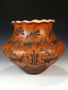 Zuni Pueblo Hand Coiled Pottery  by Anderson Peynetsa