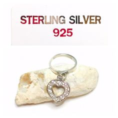Item no. E501    Sterling silver dangling, rhinestones Heart ring Size 6, 3D design | Shop this product here: http://spreesy.com/Estatenow/47 | Shop all of our products at http://spreesy.com/Estatenow    | Pinterest selling powered by Spreesy.com