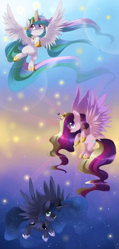 Princess celestia, princess cadence, and princess luna