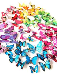 Cheap 3D Wall Stickers Online | 3D Wall Stickers for 2021 Decoration Stickers, Wall Stickers Home Decor, Diy Decoration, Wedding Decoration, Flowers Decoration, Room Decorations, Diy Butterfly Decorations, Butterfly Room, 3d Butterfly Wall Stickers