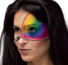 Rainbow Zipper Face Make-Up Kit - Party City