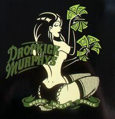 "Dropkick Murphys, ""Going Out In Style"" Irish Punk, Go Irish, Flogging Molly, Dropkick Murphys, Punk Poster, Alien Art, Punk Art, Band Posters, Pin Up Art"