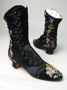 Boots ca. 1880-1890, via Manchester City Galleries.