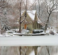 A little cabin in the woods.