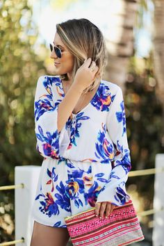 show me your mumu floral romper Get this look at www.shopriffraff.com! Free shipping and use code RIFFRAFFREPLAURYN for an extra 15% off!