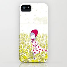 Girl in the field iPhone & iPod Case