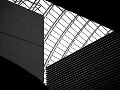 The Road Ahead photographic art ~ a monochrome abstract of the atrium in the Kimmel Center for the Performing Arts in Philadelphia, home to The Philadelphia Orchestra.  www.ronablack.com