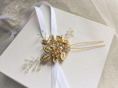 """Pic à chignon mariage """"Milia"""" Perles swarovski haute qualité : Accessoires coiffure par les-bijoux-d-aki"""