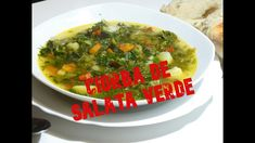 Ciorba cu salata verde de post. Supe, Palak Paneer, Gluten, Ethnic Recipes, Youtube, Food, Green, Salads, Essen