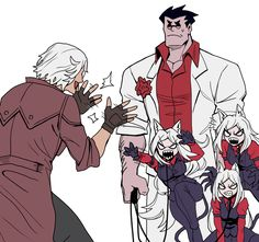 Character Art, Character Design, Dante Devil May Cry, Boy Face, Mundo Comic, Demon Girl, Anime Crossover, Fan Art, Little Puppies