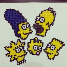 The Simpsons perler beads by yooojj